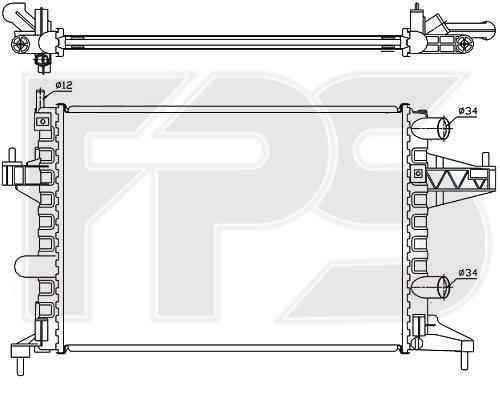 Радиатор охлаждения двигателя Opel Combo 2001-2011