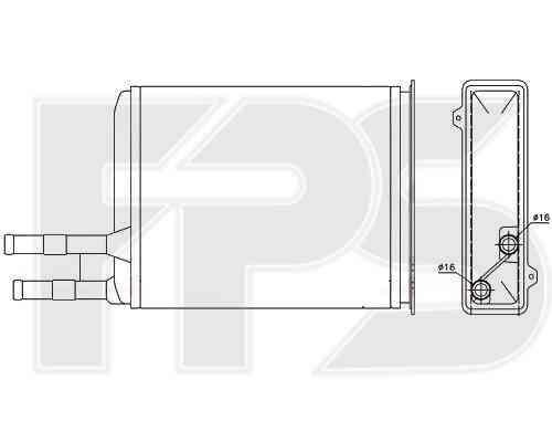 Радиатор печки Citroen Jumper 1994-2001