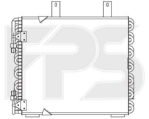 Радиатор кондиционера BMW 3 E30 (87-91) (AVA)