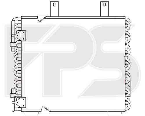 Радиатор кондиционера BMW 3 E30 (87-91) (AVA) , фото 2