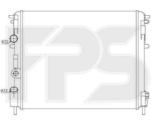 Радиатор охлаждения двигателя Dacia Logan, Renault Kangoo, Renault Symbol (FPS)