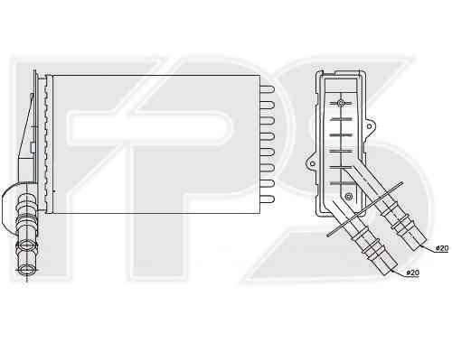 Радиатор печки RENAULT  SYMBOL I 1999-2001 (LB0 / 1 / 2), фото 2