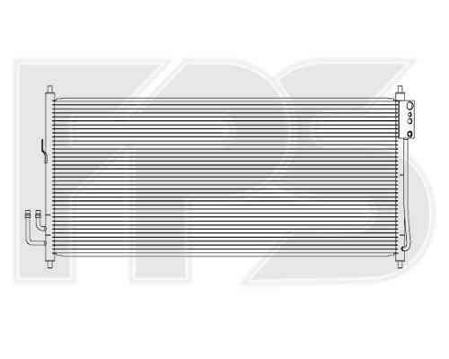 Радиатор кондиционера Nissan Teana J31 2003-2008