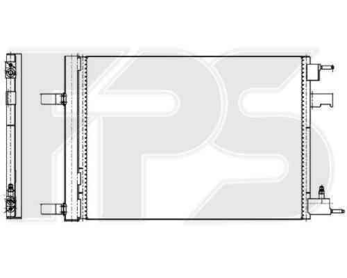 Радиатор кондиционера Chevrolet Cruze 2009-2012