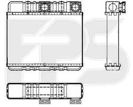 Радиатор печки BMW  3 (E46) 1998-2001
