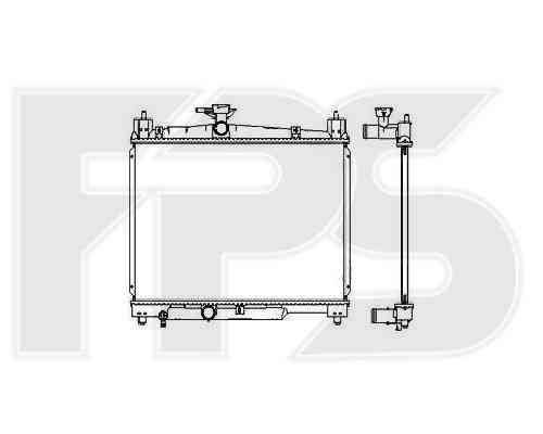 Радиатор охлаждения двигателя Toyota (FPS) FP 70 A532, фото 2