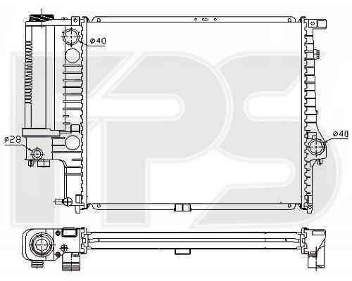 Радиатор охлаждения двигателя BMW 5 E34 2.0 МКПП