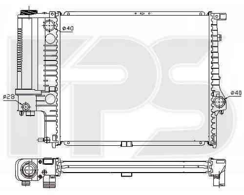Радиатор охлаждения двигателя BMW 5 E34 2.0 МКПП , фото 2
