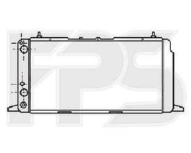 Радиатор охлаждения двигателя Audi 100 C3 (82-91) 1.8 М/А, с конд. (Ava)
