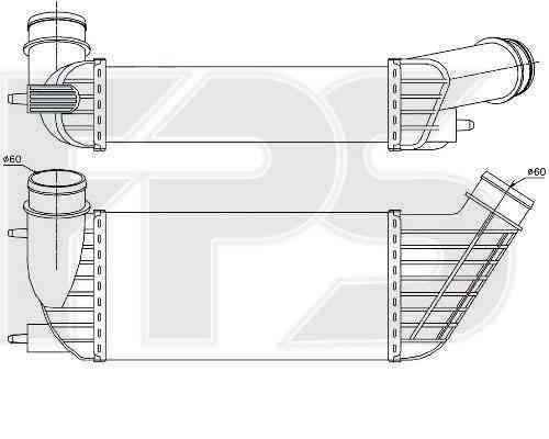 Интеркулер Citroen / Peugeot (NRF) FP 54 T67