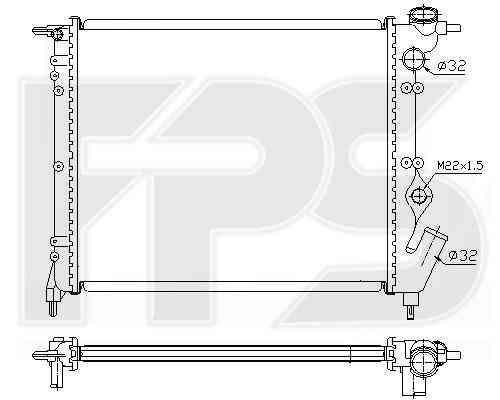 Радиатор охлаждения двигателя Renault R19 1992-1995