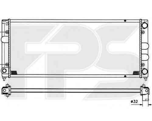 Радиатор охлаждения двигателя VW Passat 1988-1993 (B3)