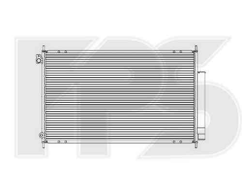 Радиатор кондиционера Honda Accord VII (03-08) 2.0, 2.4 Европа (FPS)