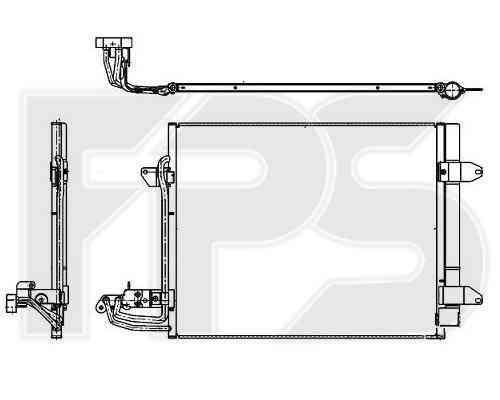 Радиатор кондиционера VW Caddy 2004-2010
