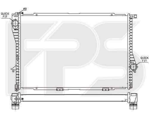 Радиатор охлаждения двигателя BMW (FPS) FP 14 A31