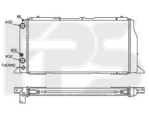 Радиатор охлаждения двигателя Audi 80 / 90 1986-1991