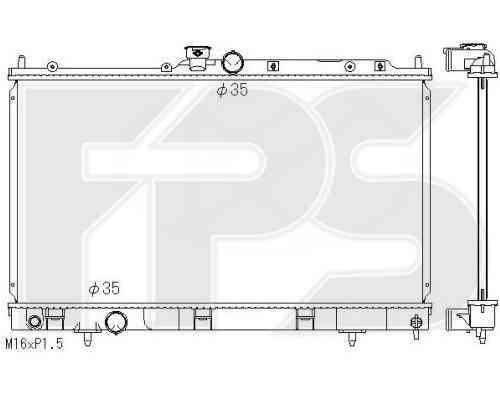 Радиатор охлаждения двигателя Mitsubishi Lancer 8 (98-03) 1.6 МКПП (AVA), фото 2