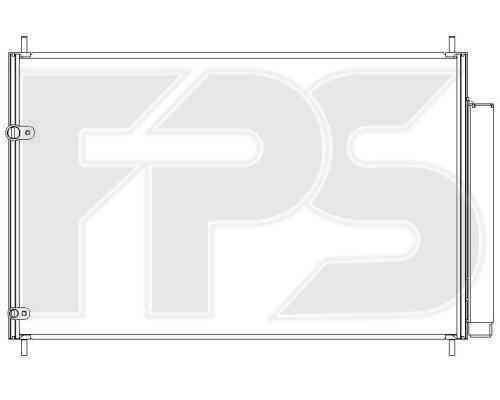 Радиатор кондиционера Toyota Auris (07-15), Toyota Avensis (09-15), To