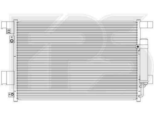 Радиатор кондиционера Mitsubishi ASX (FPS) , фото 2