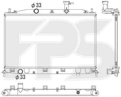 Радиатор охлаждения двигателя Hyundai Accent III (06-10) 1.4-1.6 бензин, МКПП (AVA) , фото 2