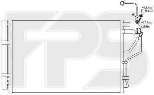 Радиатор кондиционера Hyundai / Kia (FPS) FP 32 K602
