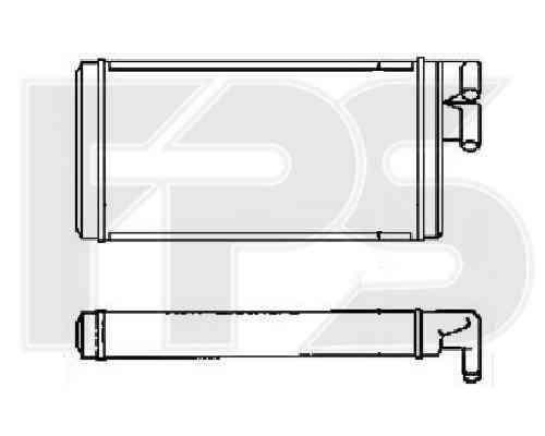Радиатор печки Audi 100 C4, A6 C4 (91-97) (FPS)