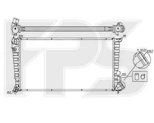 Радиатор охлаждения двигателя Citroen Berlingo 1997-2002