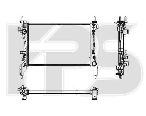 Радиатор охлаждения двигателя Fiat (NRF) FP 26 A59-X , фото 2