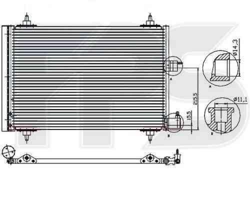 Радиатор кондиционера Citroen Berlingo 2002-2007
