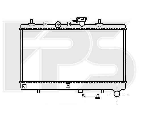 Радиатор охлаждения двигателя Hyundai / Kia (NISSENS) FP 40 A887 , фото 2