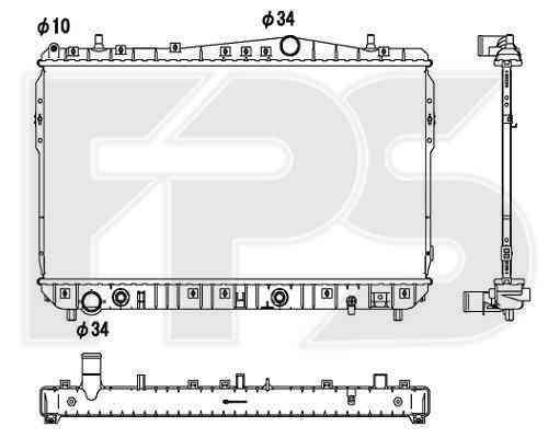 Радиатор охлаждения двигателя Chevrolet LACETTI 2003-2013 SDN / KOMBI