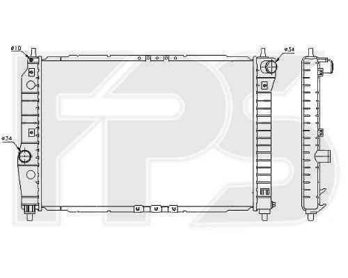 Радиатор охлаждения двигателя Chevrolet Aveo 2004-2006 SDN / HB (T200)