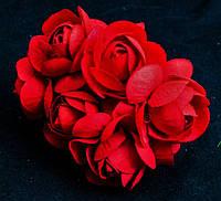 Розочки большие упаковкой 36 шт Красные