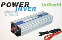 Авто инвертор, преобразователь напряжения 12/220 1000w