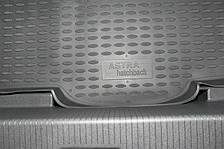 Коврик в багажник OPEL Astra 3D 2004->, хб. (полиуретан)