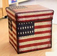 """Пуф - Короб складной """"USA"""", Банкетка - органайзер"""