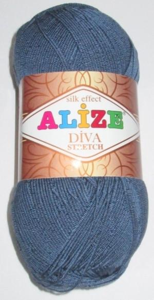 Нитки Alize стрейч, синий джинс