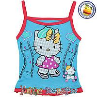 Детские Майки Hello Kitty для девочек от 1 до 5 лет (3407-5)