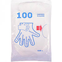 Перчатки одноразовые полиэтиленовые (арт.ПОП)