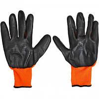 Перчатки оранжевые с черным обливом 38 г (арт.Почо38)
