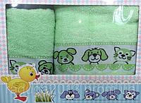 Набор махровых полотенец собачки + кошечки