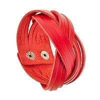 Браслет Косичка Red