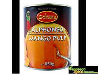 Манго пюре индийское, 850 г., Schani Alphonso Mango Pulp, Аюрведа Здесь