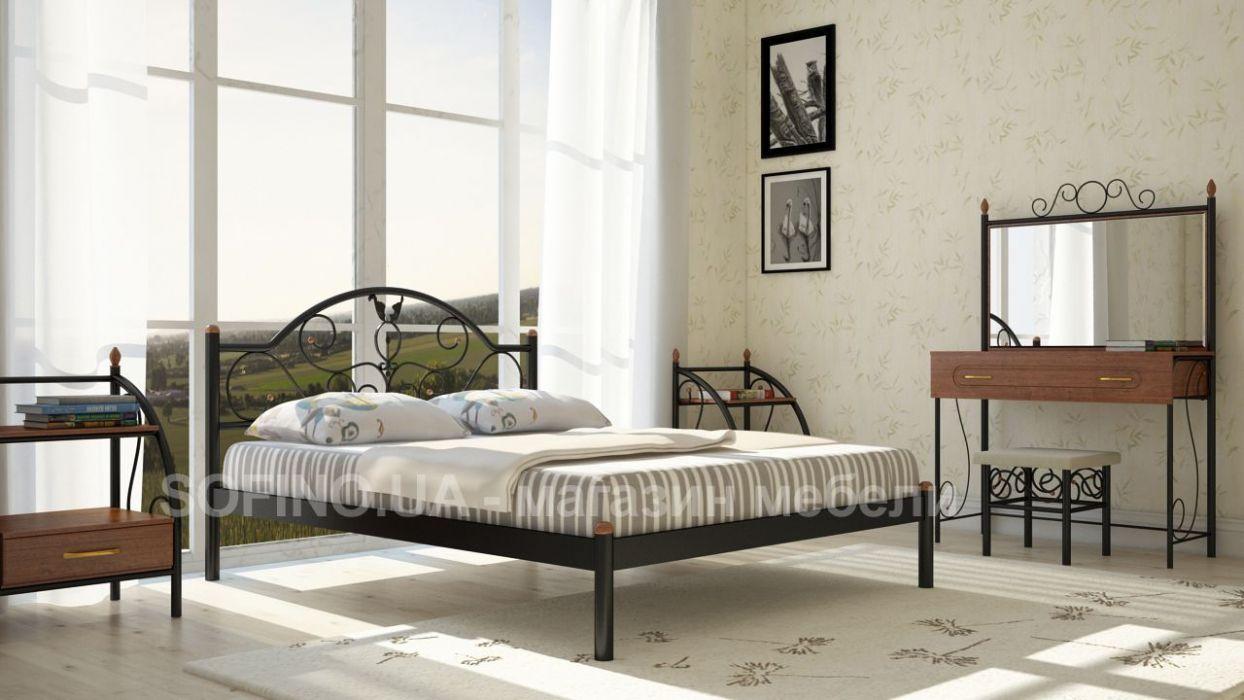 Кровать  «Анжелика» Metal Design 180х190. Доставка по Украине - БЕСПЛАТНО.