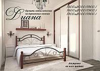 Кровать двуспальная «Диана деревянные ножки»  Metal Design 80х200. Доставка по Украине. Гарантия качества