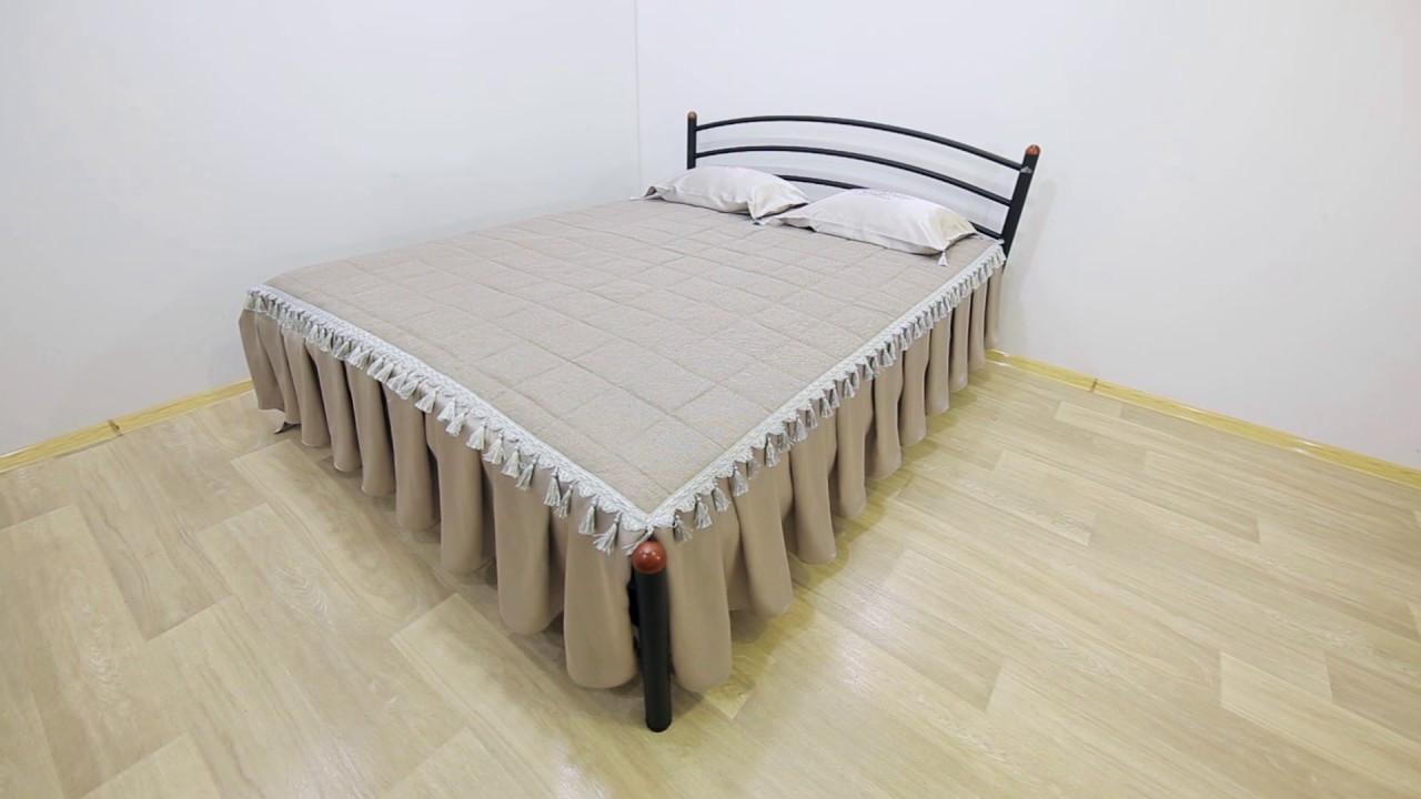 Кровать двуспальная «Маргарита» Metal Design 90х200. Доставка по Украине - БЕСПЛАТНО.