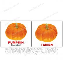"""Картки Домана міні російсько-англійські """"Овочі/Vegetables"""""""