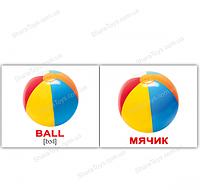 """Набор карточек Домана мини русско-английские """"Игрушки/Toys"""""""