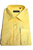 "Рубашка мужская ""Emerson"". Желтая. Длинный рукав"