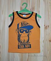 "Майка для мальчика ""Cool boy"" Merry Bee 12251 р.92 оранжевый"